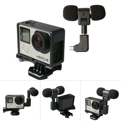 Usb Cover Tutup Gopro Go Pro 3 3 4 for gopro 4 3 3 usb to 3 5mm mic adapter cable cordmini stereo microphone for go pro hero4