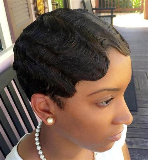 fingerwaves freeze updo for an black american female top 40 hottest very short hairstyles for women