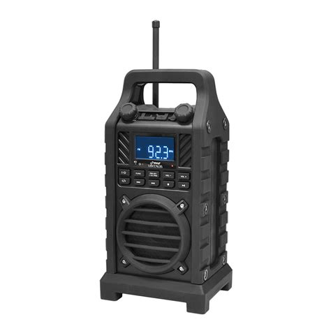 rugged stereo new pyle pwpbt250bk rugged portable bluetooth speaker rubber casing fm usb sdaux ebay