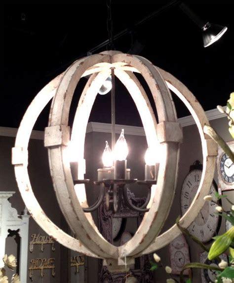 forty designs bristol 6 light chandelier antiqued white distressed cottage wood orb chandelier