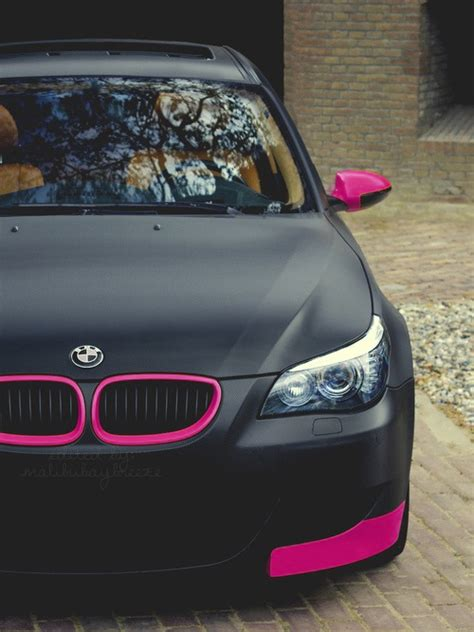 matte black and pink bmw mine my edit pink car color girly bmw matte black matte