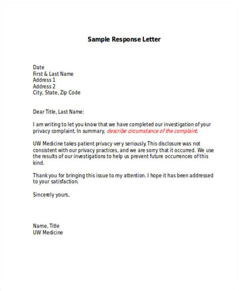 sample letter of complaint to management forms and templates