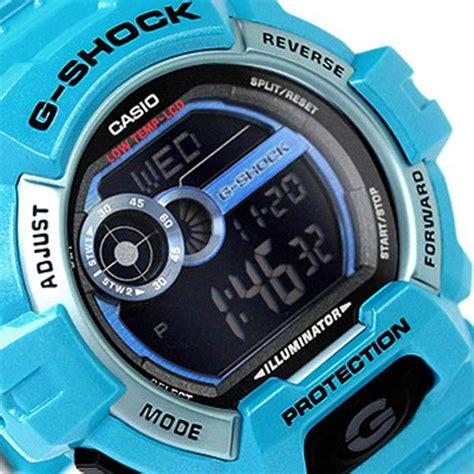 Casio G Shock Gls Black Huruf Blue casio g shock g lide 200m blue resin digital gls
