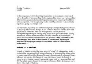 Nature Vs Nurture Debate Essay by Nature Vs Nurture Essays Business Analysis And Design Essay