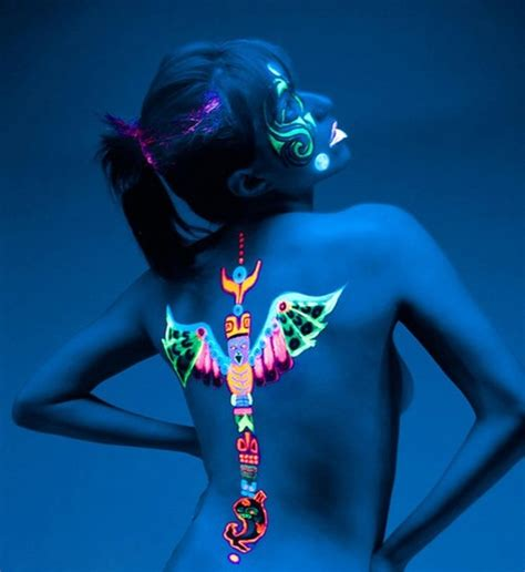 glow in the dark tribal tattoos 98 glowing black light tattoos add intensity to your ink