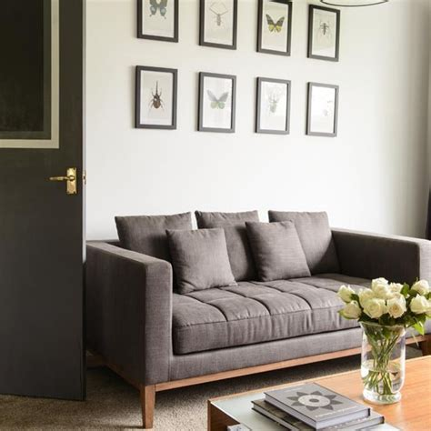 grey feature wall living room living room feature wall take a tour of this 1960s house in housetohome co uk