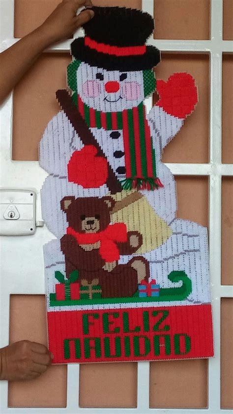 decorar un baño en navidad mu 241 eco de nieve para puerta navidad en plastic canvas