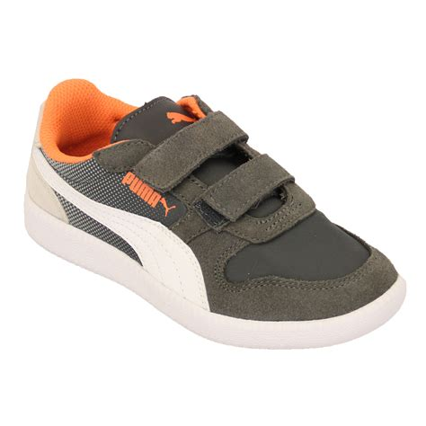 sports shoes with velcro boys trainers leather icra velcro toddlers