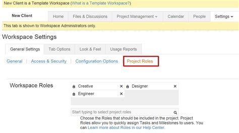 assigning roles in a workspace template imeet central