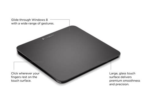 logitech t650 rechargeable wireless touchpad w multitouch for windows 10 8 7 rt ebay