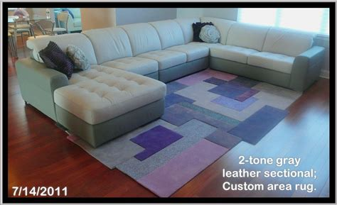 how to place a rug under a sectional sofa how to place an area rug with a sectional area rug ideas
