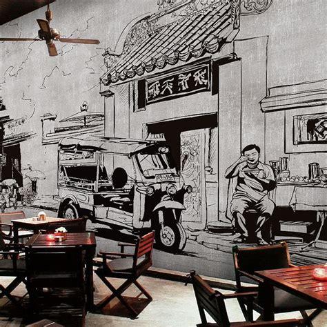 wallpaper vintage hitam putih gratis pengiriman tiga dimensi pola bata wallpaper retro