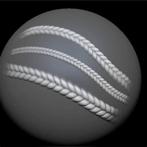 zbrush rope tutorial a simple clay based method for braided hair page 4