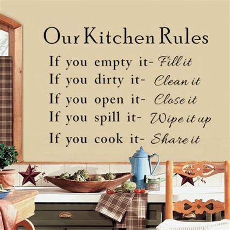 home decor rules our kitchen rules cook words quote wall stickers vinyl art