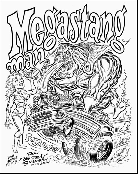 printable coloring pages rods awesome rat fink rod coloring book pages with rod