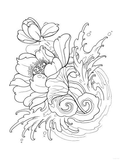 tattoo coloring books creative modern designs coloring book dover