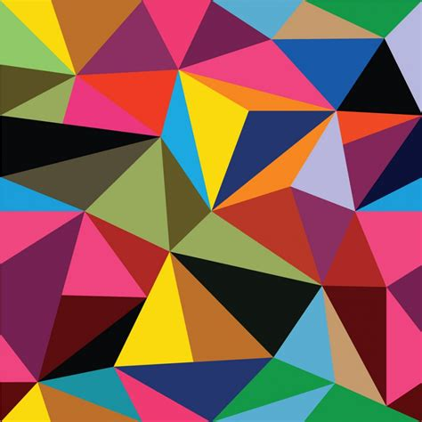 colorful triangle pattern wallpaper multi coloured geometric triangles pattern wall mural