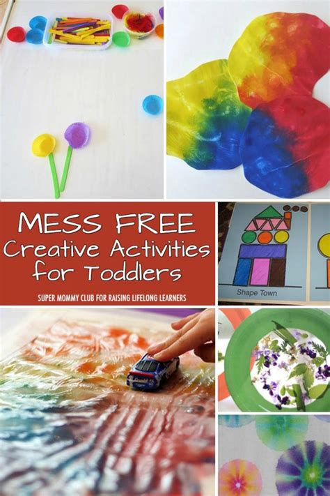 activities for toddlers 8 mess free creative activities for toddlers