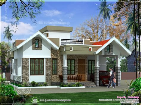 kerala single floor house single floor house front design