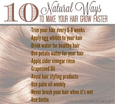 10 Natural Ways to Make Your Hair Grow Faster!!!   Saving