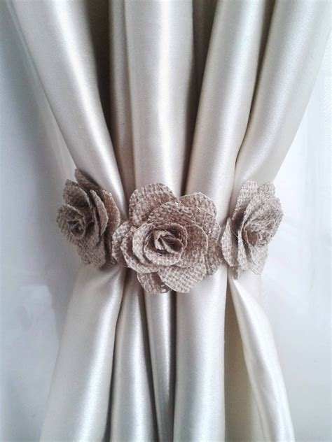 flower curtain tie backs curtain tie back1 pcs burlap flower curtain tie backsshabby