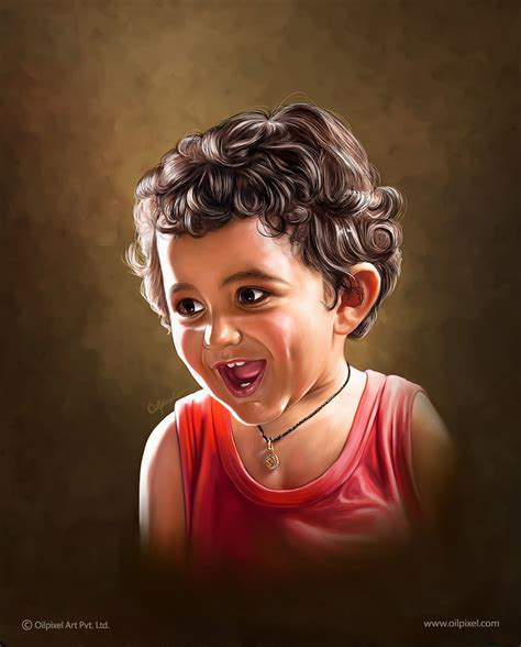 painting images pixel perfect digital portrait painting for kid by oilpixel