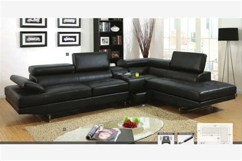 couch speakers modern black leather sectional sofa couch console