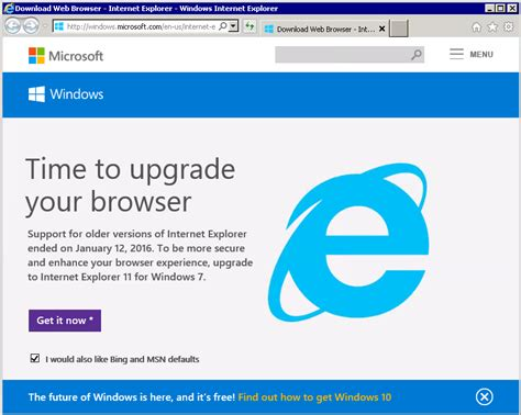 microsoft web software prevent the new quot end of quot upgrade notification for