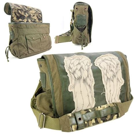 Dead Messenger the walking dead daryl dixon wings green messenger bag