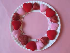 Puffy heart wreath no time for flash cards
