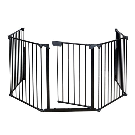 baby safety gate door wide metal walk thru pet