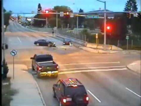 bad t bone crash caught on traffic cam youtube