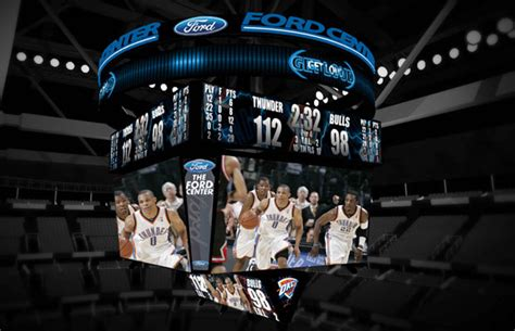ford center scoreboard  oklahoma city thunder
