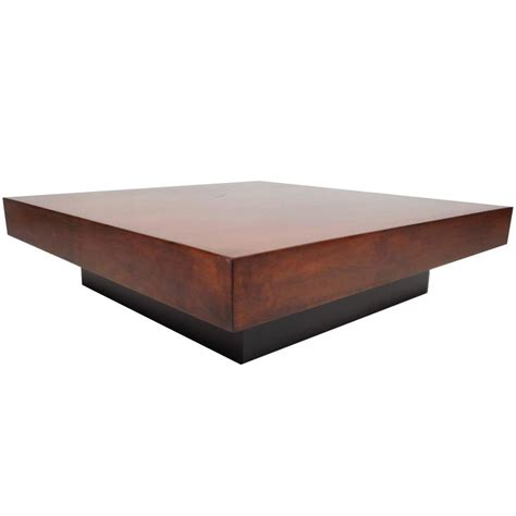 Coffee Table Large Square Large Mid Century Modern Square Burl Walnut Coffee Table At 1stdibs