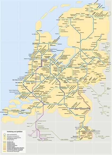 netherlands map ns spoorkaart nederland ns