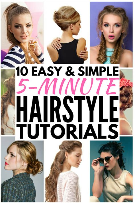 Easy 5 Minute Hairstyles by 5 Minute Hairstyles For School Hairstyles