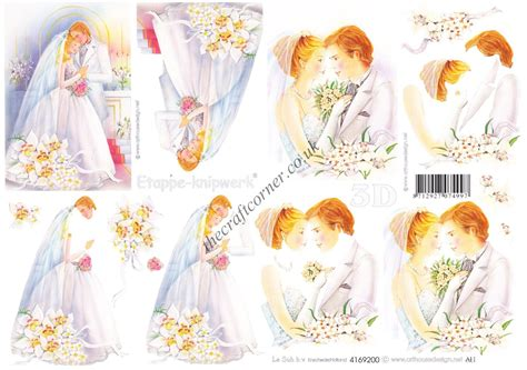 Wedding Decoupage Sheets - beautiful groom wedding design 3d decoupage sheet