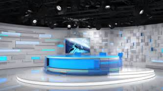 Interior Plant Wall virtual tv studio 02 3d model 3d tvs and studio