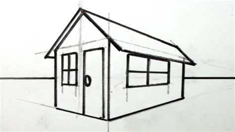 simple house drawing how to draw a house in 3d for kids easy things to draw