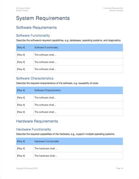 software requirements template functional requirements apple iwork