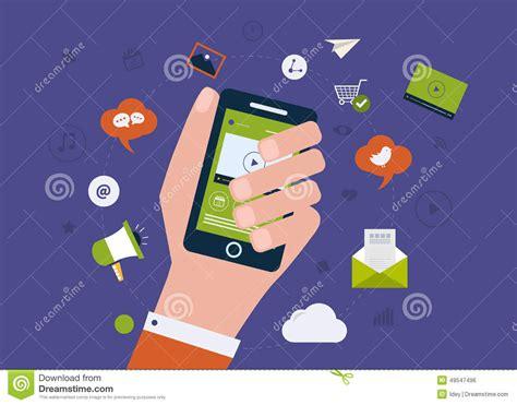 digital mobile marketing digital mobile marketing stock vector image 49547496