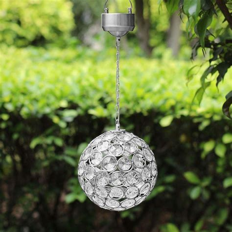 Aria Solar Hanging Crystal Ball Light