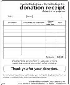 donation receipt form template goodwill donation receipt 7 exles in word pdf