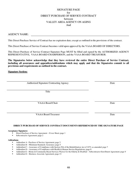 Best Photos Of Contract Signature Page Exles Contract Agreement Signature Page Contract Contract Signature Template