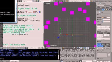 tutorial python blender blender tutorial basic python programming part 23