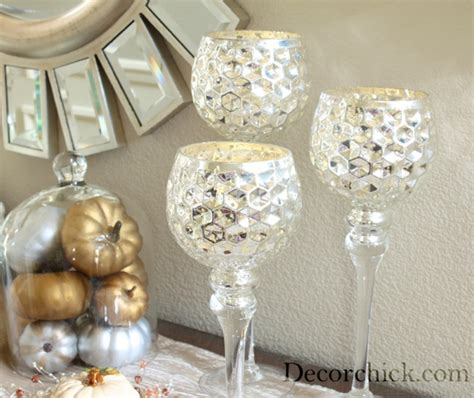 Glass Goblet Candle Holders Mercury Glass Candle Holder Decorchick