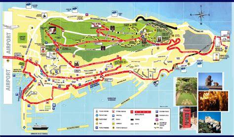 sightseeing map of large detailed tourist map of gibraltar gibraltar
