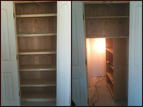 secret door in closet i built a linen closet with a door to mask a clients safe room somethingimade