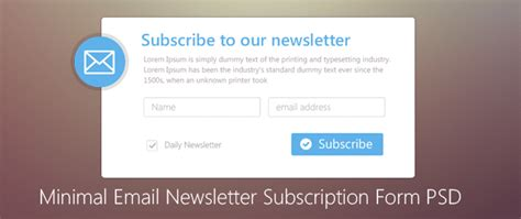 Minimal Email Newsletter Subscription Form Psd For Free Download Freebie No 71 Sign Up For Our Newsletter Template