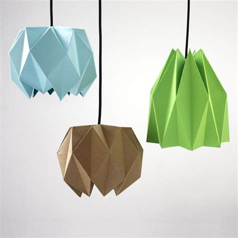Folded Paper L Shade - diy origami lshade design and paper